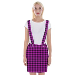 Lumberjack Fabric Pattern Pink Black Braces Suspender Skirt