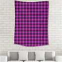 Lumberjack Fabric Pattern Pink Black Medium Tapestry View2