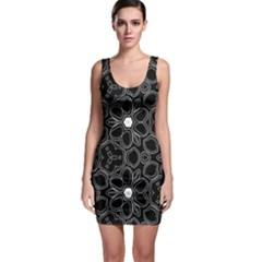 Floral pattern Sleeveless Bodycon Dress