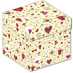 Valentinstag Love Hearts Pattern Red Yellow Storage Stool 12
