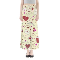 Valentinstag Love Hearts Pattern Red Yellow Maxi Skirts