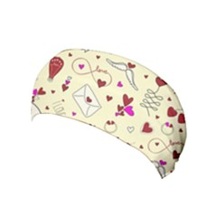 Valentinstag Love Hearts Pattern Red Yellow Yoga Headband