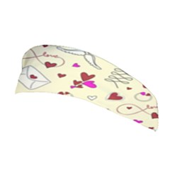 Valentinstag Love Hearts Pattern Red Yellow Stretchable Headband
