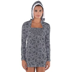Floral pattern Women s Long Sleeve Hooded T-shirt