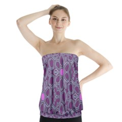 Floral pattern Strapless Top