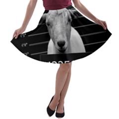 Criminal goat  A-line Skater Skirt