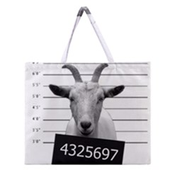 Criminal goat  Zipper Large Tote Bag