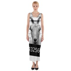 Criminal goat  Fitted Maxi Dress