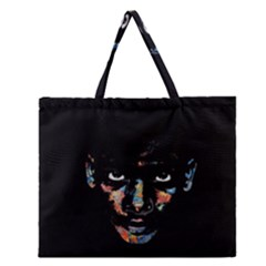 Wild child  Zipper Large Tote Bag