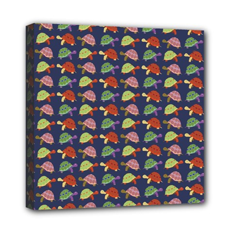 Turtle pattern Mini Canvas 8  x 8