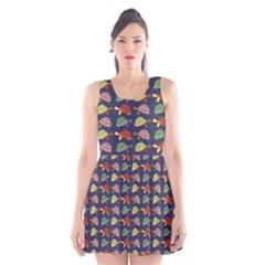 Turtle pattern Scoop Neck Skater Dress