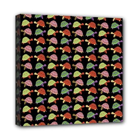 Turtle pattern Mini Canvas 8  x 8