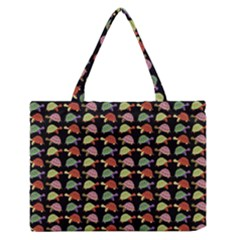 Turtle pattern Medium Zipper Tote Bag