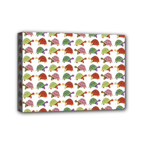 Turtle pattern Mini Canvas 7  x 5