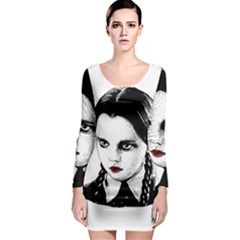 Wednesday Addams Long Sleeve Bodycon Dress