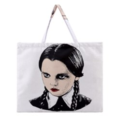 Wednesday Addams Zipper Large Tote Bag