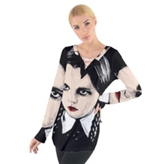 Wednesday Addams Women s Tie Up Tee