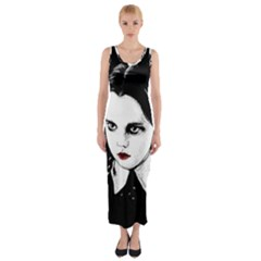 Wednesday Addams Fitted Maxi Dress