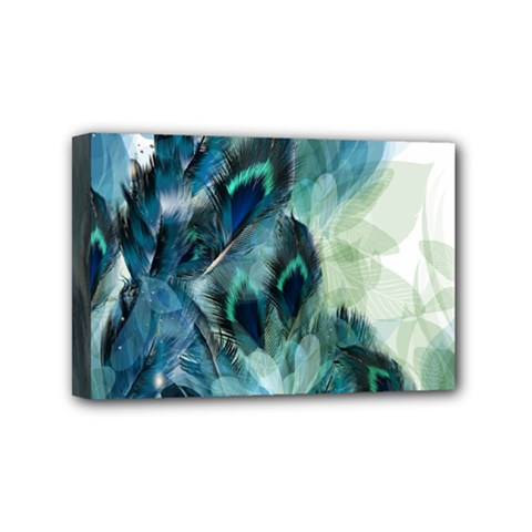 Flowers And Feathers Background Design Mini Canvas 6  x 4