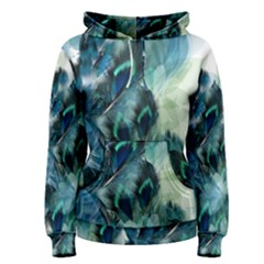 Flowers And Feathers Background Design Women s Pullover Hoodie