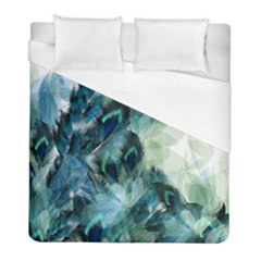 Flowers And Feathers Background Design Duvet Cover (Full/ Double Size)