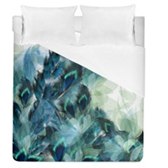 Flowers And Feathers Background Design Duvet Cover (Queen Size)