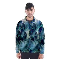 Flowers And Feathers Background Design Wind Breaker (men)