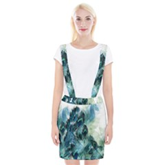 Flowers And Feathers Background Design Braces Suspender Skirt