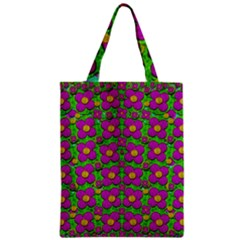 Bohemian Big Flower Of The Power In Rainbows Zipper Classic Tote Bag