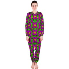 Bohemian Big Flower Of The Power In Rainbows Onepiece Jumpsuit (ladies)