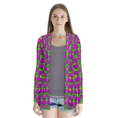 Bohemian Big Flower Of The Power In Rainbows Cardigans