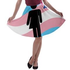 Transgender  A-line Skater Skirt