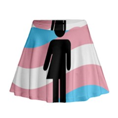 Transgender  Mini Flare Skirt