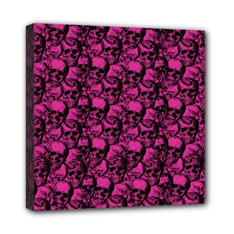Skulls pattern  Mini Canvas 8  x 8