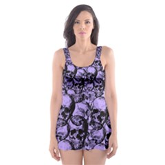 Skulls pattern  Skater Dress Swimsuit