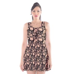 Skulls pattern  Scoop Neck Skater Dress