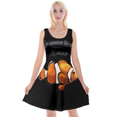 Clown fish Reversible Velvet Sleeveless Dress