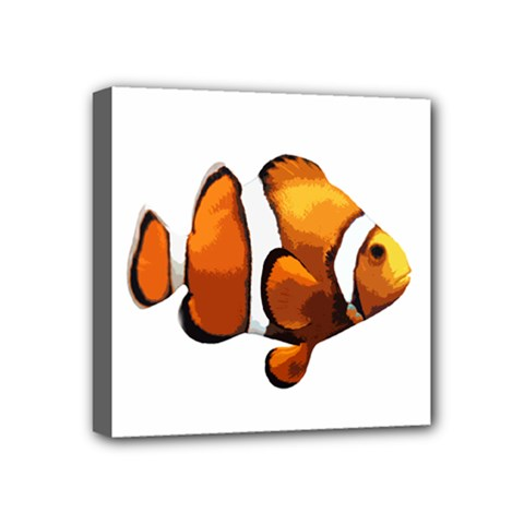 Clown fish Mini Canvas 4  x 4
