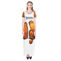 Clown fish Short Sleeve Maxi Dress