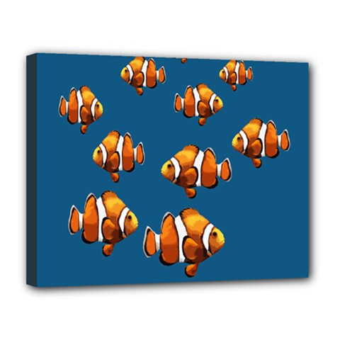 Clown fish Canvas 14  x 11