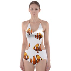 Clown fish Cut-Out One Piece Swimsuit