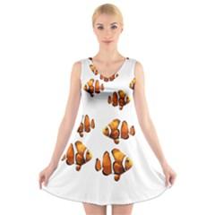 Clown fish V-Neck Sleeveless Skater Dress