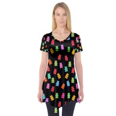 Candy pattern Short Sleeve Tunic