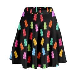 Candy pattern High Waist Skirt