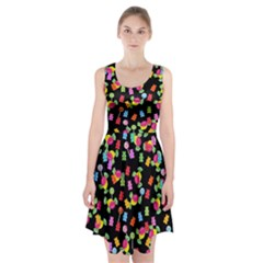 Candy pattern Racerback Midi Dress