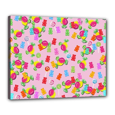 Candy pattern Canvas 20  x 16