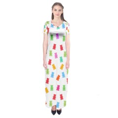 Candy pattern Short Sleeve Maxi Dress