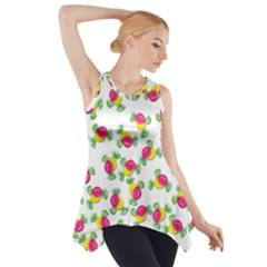 Candy Pattern Side Drop Tank Tunic