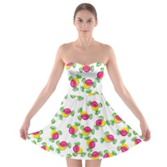 Candy pattern Strapless Bra Top Dress