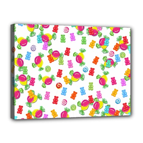 Candy pattern Canvas 16  x 12